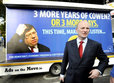 Declan Ganley's Libertas campaigned in the second Lisbon Treaty referendum, and ran three candidates in the 2009 European Parliament elections.