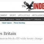 The UK's Independent turned calls for Britain to leave the EU on their head