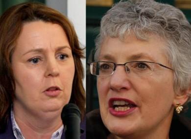 Senators Jillian van Turnhout, left, and Katherine Zappone