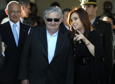 Ivan Heyn served in the government of Cristina Kirchner de Fernandez (right, at the summit yesterday)