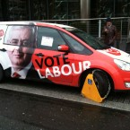 Eamon Gilmore was touted for Taoiseach by the Labour party at the start of the campaign. TheJournal.ie's Gavan Reilly spotted this temporary setback on Golden Lane, Dublin.
