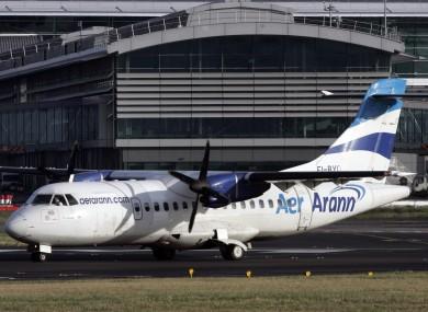 File photo of an Aer Arann flight at Dublin airport
