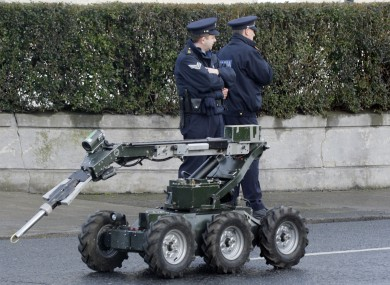 File photo of an Army Bomb Disposal Squad vehicle. The Army made safe a grenade at the Distillery Road apartment complex yesterday