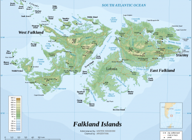 The Falkland Islands are known as Las Malvinas to Argentina which lays claim to them