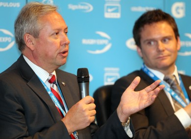 Chief executive of England Rugby 2015, Paul Vaughan