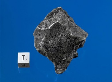 A Martian meteorite, recovered in December 2011 near Morocco.