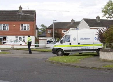 Crime scene following the shooting on 25 May.