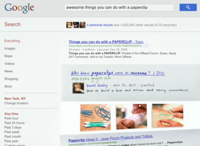 Google's new feature will include personalised content based on the activity of a user's Google+ contacts.