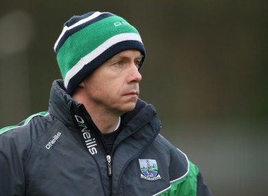 Peter Canavan on the sidelines yesterday.