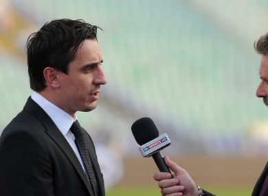 Gary Neville, interviewed by Sky colleague, Nick Collins.