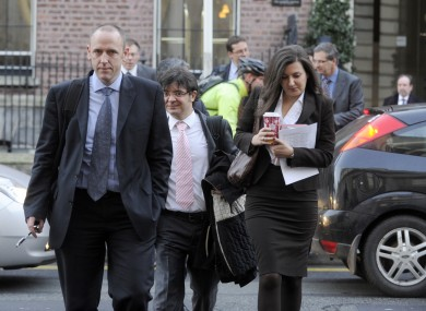 European Commission economist Sven Langedijk (left) leads a group of officials from the Troika in Dublin. The IMF's Ajai Chopra has not been taking part in the latest review.