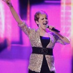 Former Eurovision star Donna McCaul singing her track 'Mercy'. (Image: KOBPIX)