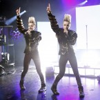 Last year's Irish entry Jedward performing 'Waterline' in their bid to head back to the Eurovision (Image: KOBPIX)