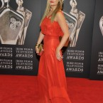 Lady in red take 2: TV presenter Laura Whitmore. (Photo by KOBPIX)
