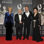 President Michael D Higgins with his wife Sabina, Michael Fassbender and IFTA CEO Aine Moriarty. (Photo by KOBPIX)