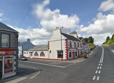 The Co Roscommon town of Cloonfad, near the Mayo border, where the two people were found shot dead last night.