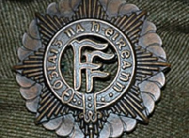 The FF letters in the logo of the Defence Forces stem from the words 'Fianna Fáil', meaning 'Soldiers of Ireland'.