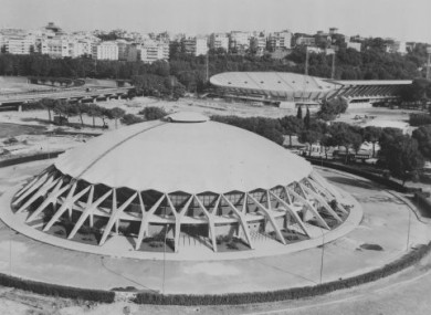 The Olympic Stadium and village in Rome, 1960.