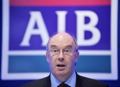 David Hodgkinson, Executive Chairman of AIB, at an EGM last year.