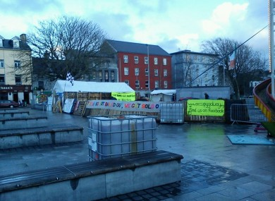 The Occupy Galway camp