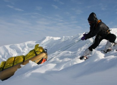 Clare O'Leary training for the expedition