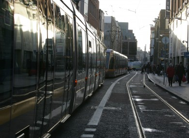 The Luas in Dublin