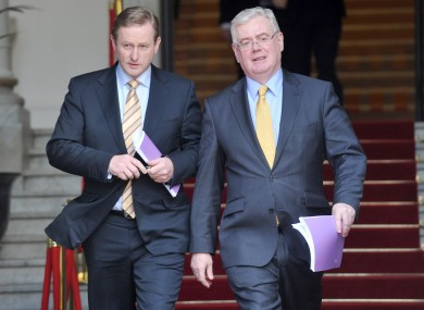 Taoiseach Kenny and Tánaiste Gilmore on Wednesday.
