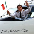 American film star and pilot John Travolta waves from his airplane at Ciampino Airport in Rome.Travolta who is a frequent flyer also has his own airport at his Florida home. (PIER PAOLO CITO/AP/Press Association Images)