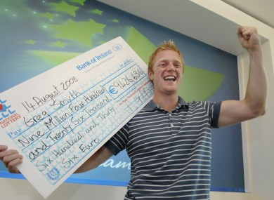 Lotto winner Greg Smyth in 2008. The National Lottery could be getting a new