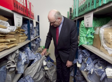 Phil Hogan checking for any stray registration forms