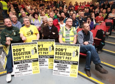 People at a protest against the household charge in Dublin last month