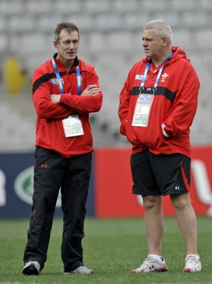 Rob Howley (left) will replace Warren Gatland (right) for Wales' tour of Australia.