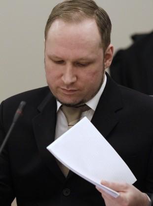 Breivik in court yesterday