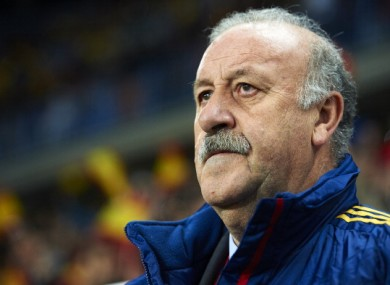 Vicente Del Bosque: no worries.