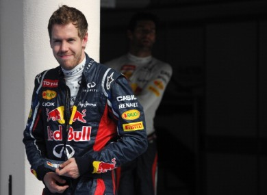 Red Bull Racing's German driver Sebastian Vettel.