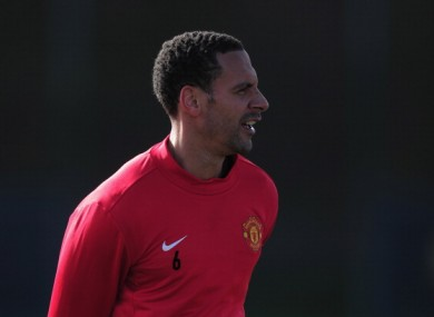 Rio Ferdinand: back injury could rule him out of Euro 2012.