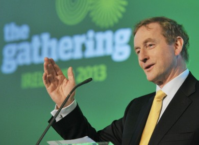 Enda Kenny speaking at the launch of The Gathering today