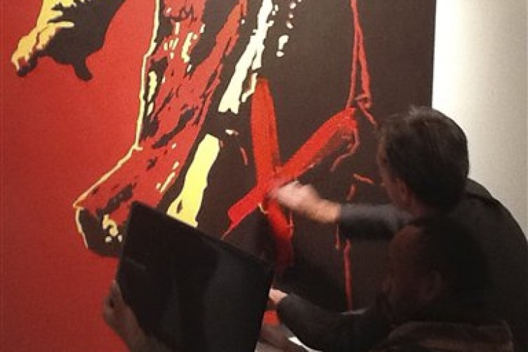 Zuma Painting Controversy Zuma Painting Defaced at