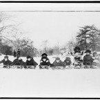 Children on sleds in the park, 1915. (Library of Congress, Prints & Photographs Division)