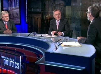 Eamon Gilmore and Gerry Adams debate on The Week in Politics last night