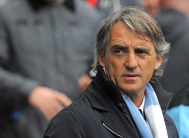 Manchester City manager Roberto Mancini.
