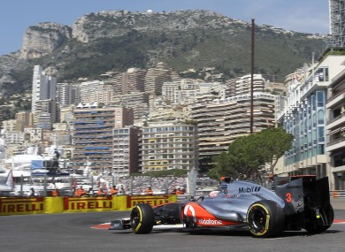 McLaren Mercedes driver Jenson Button.