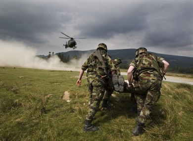 File photo of Defence Forces personnel in training.