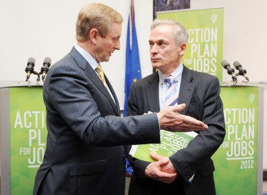 Enda Kenny and Richard Bruton pictured last month
