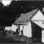 A thatched cottage in Brides Glen, Co Dublin circa 1908. (Library of Congress, Prints & Photographs Division)