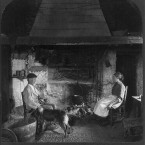 Inside a Irish cottage, 1902 (location not marked). (Library of Congress, Prints & Photographs Division)