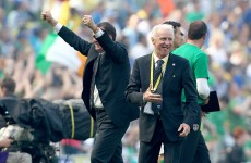 Trapattoni left 'very, very satisfied' by Irish performance in 1-0 win.