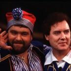 Eighties Ireland superstars Brendan Grace and Red Hurley in the Gaiety's 1985 panto 'Robinson Crusoe'.   Image: Photocall Ireland