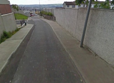 The Holyhill Lane area of Knocknaheeny in Cork