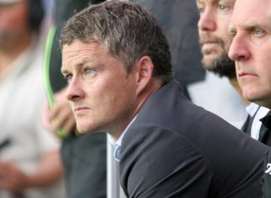 Molde FK manager Ole Gunnar Solskjaer.